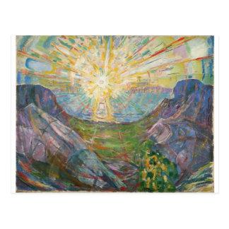 Edvard Munch - solen, 1916 Vykort