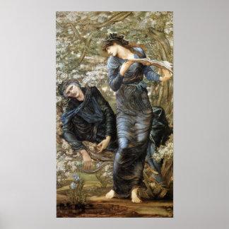 Edward Burne-Jones tjusa av Merlin Poster