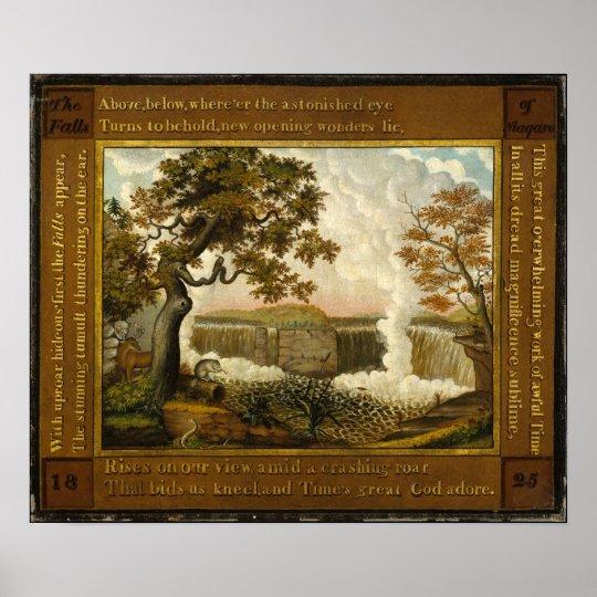 Edward Hicks nedgångarna av Niagara Poster
