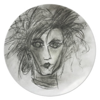 Edward original- fantasikonst - konstnärteckningen tallrik