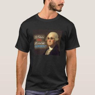 Edward Snowden - George Washington Sonfärg Shir T Shirt