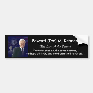 Edward (Ted) Kennedy - i Memorium Bildekal