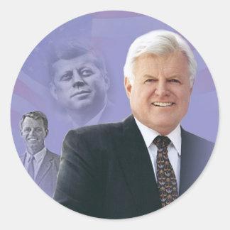 Edward (Ted) Kennedy - i Memorium Runt Klistermärke
