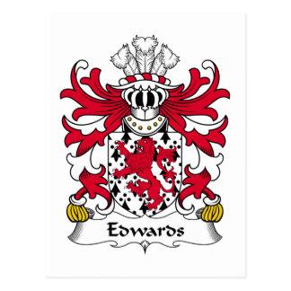 Edwards familjvapensköld vykort