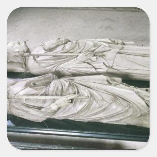 Effigies av Philippe III det djärvt och Philippen Fyrkantigt Klistermärke