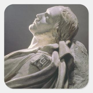 Effigy av Ferdinand-Philippe (1810-42) ducd'Orlea Fyrkantigt Klistermärke