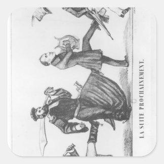 Efter retinuen, 20th December 1848 Fyrkantigt Klistermärke