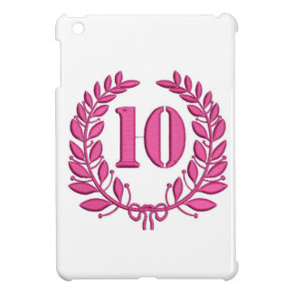 efterföljdbroderi för tio firande iPad mini mobil skydd