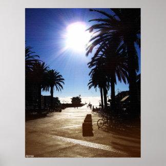 Eftermiddag i den Hermosa stranden Poster