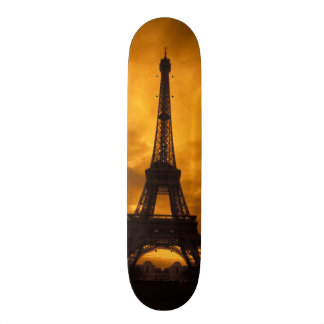 EG frankrike, Paris.  Eiffel torn Skateboard Bräda 20,5 Cm