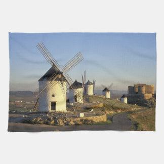 EG Spanien, La Mancha, Consuegra. Windmills och Kökshandduk