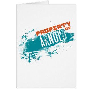 Egendom av Arnold Hälsningskort