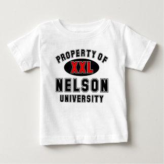 Egendom av den Nelson universiteten T-shirts