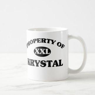 Egendom av KRYSTAL Kaffemugg