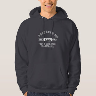Egendom av snurrandedoktorbaseball hoodie