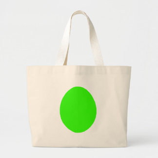 Egg Solid Green Lt The MUSEUM Zazzle Gifts Tote Bag