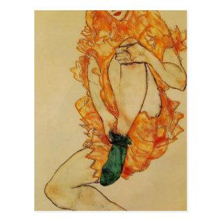 Egon Schiele- den gröna strumpan Vykort