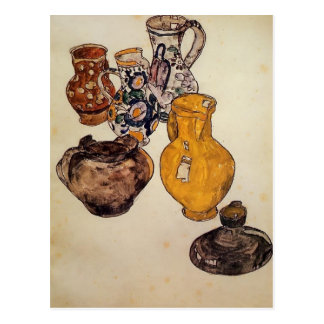 Egon Schiele- keramik Vykort