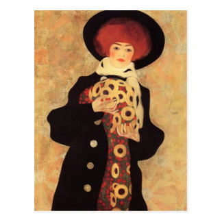 Egon Schiele- kvinna med den svart hatten Vykort