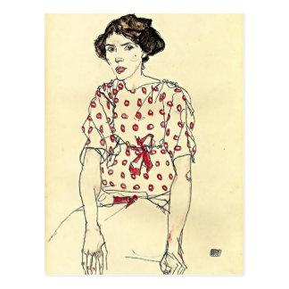 Egon Schiele- porträtt av Fröcken Waerndorfer Vykort