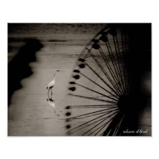 """Egret till och med pariserhjulen 14"""" x 11"""" affisch"""