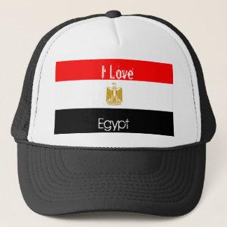 egypten-flagga älskar jag, egyptenen truckerkeps