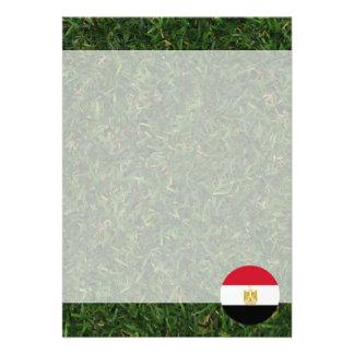 Egyptenflagga på gräs 12,7 x 17,8 cm inbjudningskort