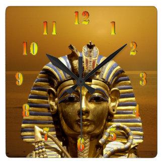 Egyptenkung Tut Fyrkantig Klocka