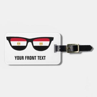 Egyptier skuggar den beställnings- bagagemärkren bagagebricka