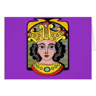 Egyptisk drottningillustration hälsningskort