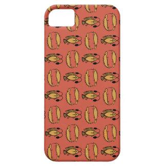 Egyptisk fisk, krokodil på det röda fodral för iPhone 5 cases