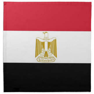 Egyptisk flagga på den MoJo servetten Tygservett