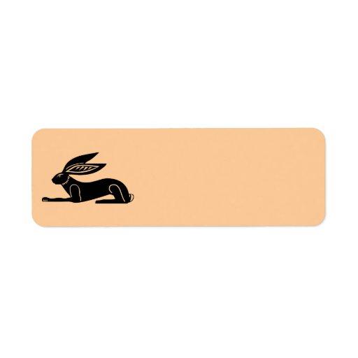 Egyptisk kanin returadress etikett