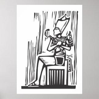 Egyptisk Pharaoh Affischer