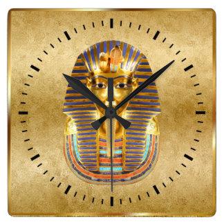 Egyptisk temaväggdekor fyrkantig klocka