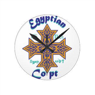 Egyptiska Copt Rund Klocka
