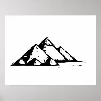 Egyptiska pyramider poster
