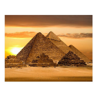 Egyptiska pyramider vykort