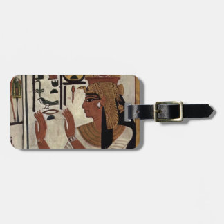 Egyptiskt gudinnahieroglyphicsmönster bagagebricka