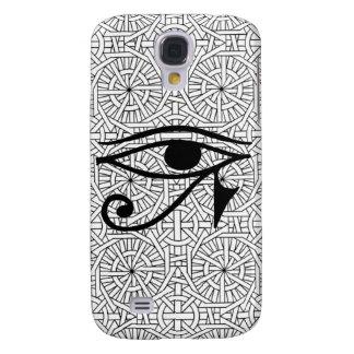 Egyptiskt livligt tufft fodral för öga & för mönst galaxy s4 fodral