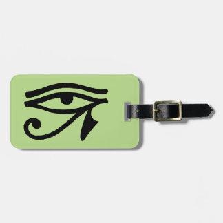 Egyptiskt symbol: Wedjat Bagagebricka