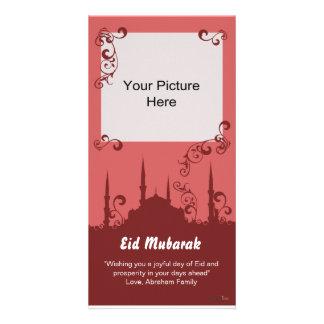 Eid Burgundy virvlar runt fotokort