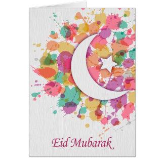 Eid Mubarak islamiskt hälsningkort för Hälsningskort