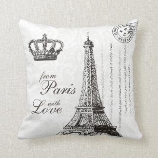 Eiffel för fransk för vintage för Paris Kudde