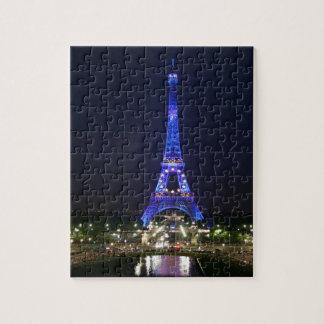 Eiffel torn (blåttljus) pussel