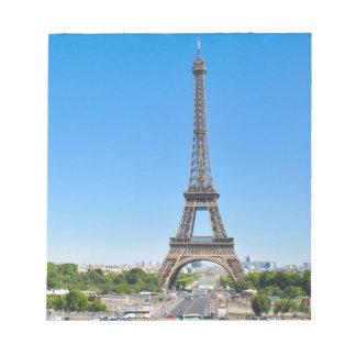 Eiffel torn i Paris, frankrike Anteckningsblock