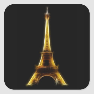 Eiffel torn i Paris frankriken Fyrkantigt Klistermärke
