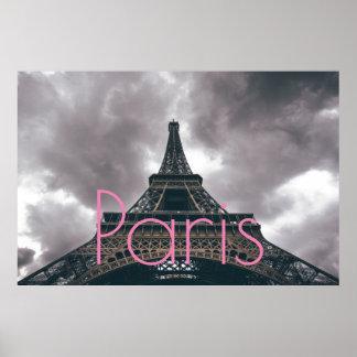 Eiffel torn i Paris romantisk kärlekstad Poster