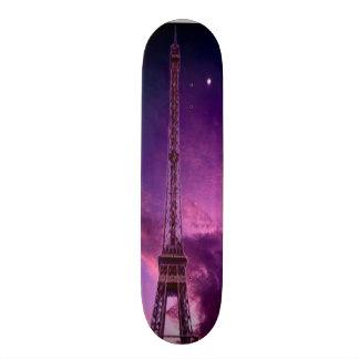 Eiffel torn i solskenhimmel old school skateboard bräda 21,6 cm