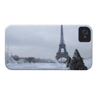 Eiffel torn i vinter iPhone 4 Case-Mate fodral